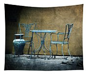 Blue Table And Chairs Tapestry
