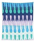 Blue Tie Dye Tapestry by Linda Woods