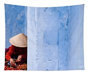 Blue Wall Hawker 01 Tapestry