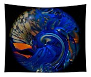 Blue Wave Swirl Tapestry