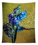 Bluebells In Water Splash Tapestry