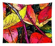 Blueberry Autumn Leaves Tapestry