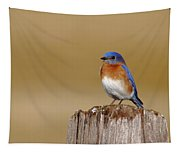 Bluebird At His Post Tapestry