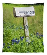 Bluebonnets And Mailbox Tapestry