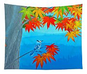 Bluejay In The Fall Tapestry