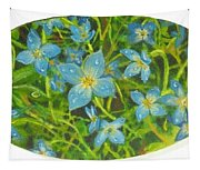 Bluets Of The Shenandoah  Tapestry