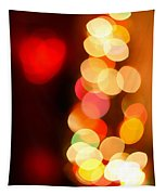 Blurred Christmas Lights Tapestry