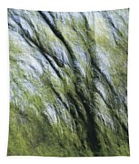 Blurred Trees Tapestry