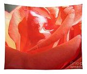 Blushing Orange Rose 2 Tapestry