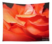 Blushing Orange Rose 6 Tapestry
