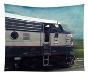 Bn F9 Train Engine Textured Tapestry