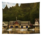 Boat House Row Tapestry