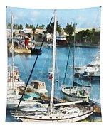 Boat - King's Wharf Bermuda Tapestry