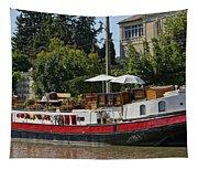 Boat On Canal Du Midi Homps France Dsc01717  Tapestry