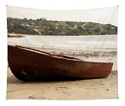 Boat On Shore 02 Tapestry