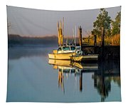 Boat On The Creek Tapestry