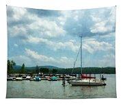 Boat - Sailboat At Dock Cold Springs Ny Tapestry
