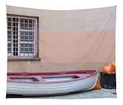 Boat Under A Window Tapestry