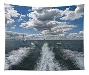 Boat Wake 01 Tapestry