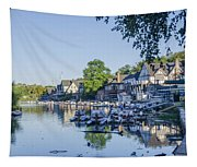 Boathouse Row In September Tapestry