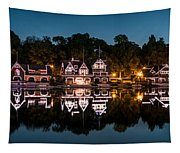 Boathouse Row Panorama Tapestry