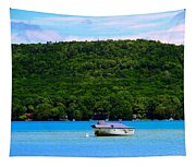 Boating At Sleeping Bear Dunes Lake Michigan Tapestry