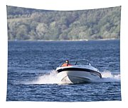 Boating On Grand Traverse Bay Tapestry