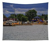 Boating On Lake Erie Tapestry