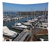 Boats At The San Francisco Pier 39 Docks 5d26004 Tapestry