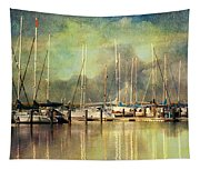 Boats In Harbour Tapestry