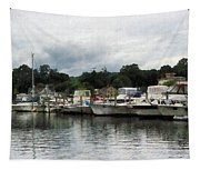 Boats On A Cloudy Day Essex Ct Tapestry