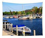 Boats On The Dock Traverse City Tapestry