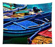 Boats Snuggling - Sicily Tapestry