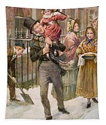Bob Cratchit And Tiny Tim Tapestry