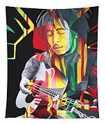 Bob Marley And Rasta Lion Tapestry
