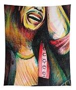Bob Marley In Agony Tapestry