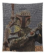 Boba Fett Quotes Mosaic Tapestry