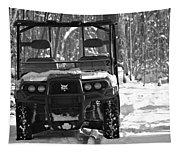 Bobcat Atv In Winter Tapestry