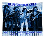 Boc #103 In Blue With Text Tapestry