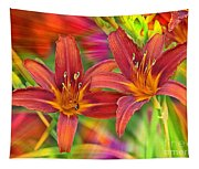 Bold And Beautiful Daylilies Tapestry