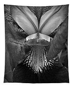 Bold Iris Bw Tapestry