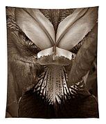 Bold Iris Sepia Tapestry