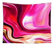 Bold Pink Abstract Tapestry