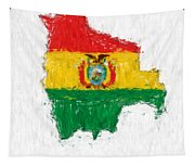 Bolivia Painted Flag Map Tapestry