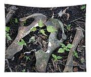 Bones On The Forest Floor Tapestry