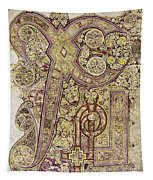 Book Of Kells Christ Page Tapestry