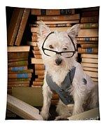 Bookworm Dog Tapestry