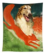 Borzoi Art - Hunting In The Ussr Poster Tapestry