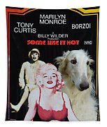 Borzoi Art - Some Like It Hot Movie Poster Tapestry