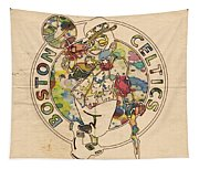 Boston Celtics Logo Vintage Tapestry